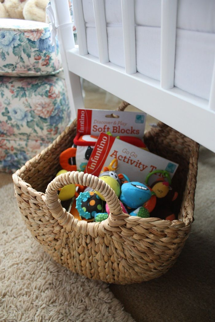 Project Baby W Marshalls Baby Toys A Basket To Store Them In