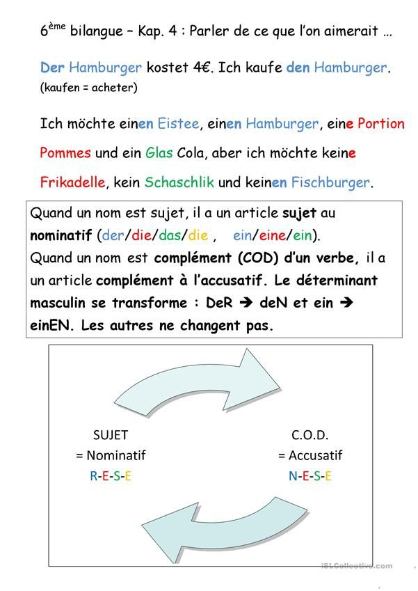 Lektion Akkusativ | Deutsch für Kinder (Arbeitsblätter) | Pinterest ...