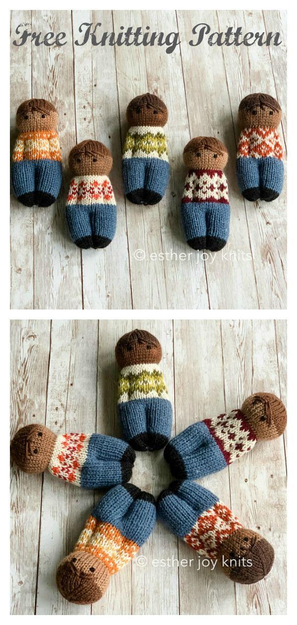 Comfort Dolls Free Knitting Pattern #knittingpatternstoys