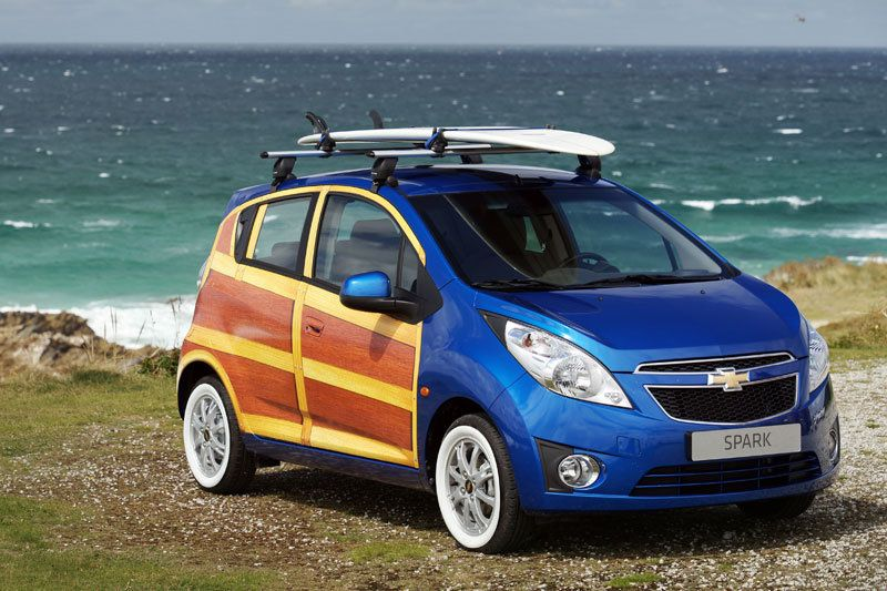 Cowabunga Europe The Chevy Spark Woodie Wagon Chevrolet Spark Chevrolet Chevy