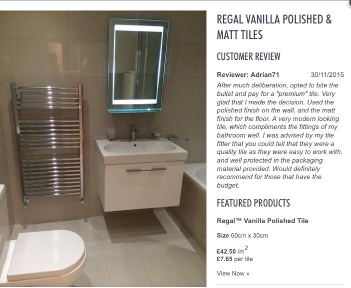 Regal Vanilla Range Loft Bathroom Tile Bathroom Style Tile