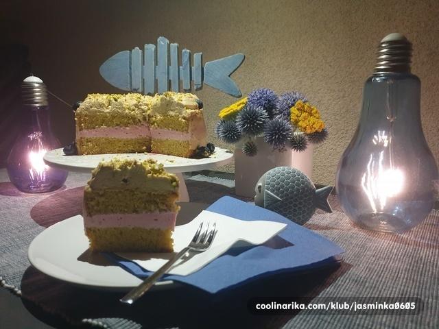 Nježna torta sa pistacijem i malinama — Coolinarika