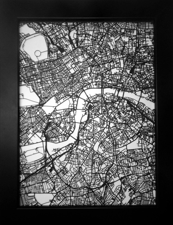 Garfield Black 5x7 metal laser cut picture frame
