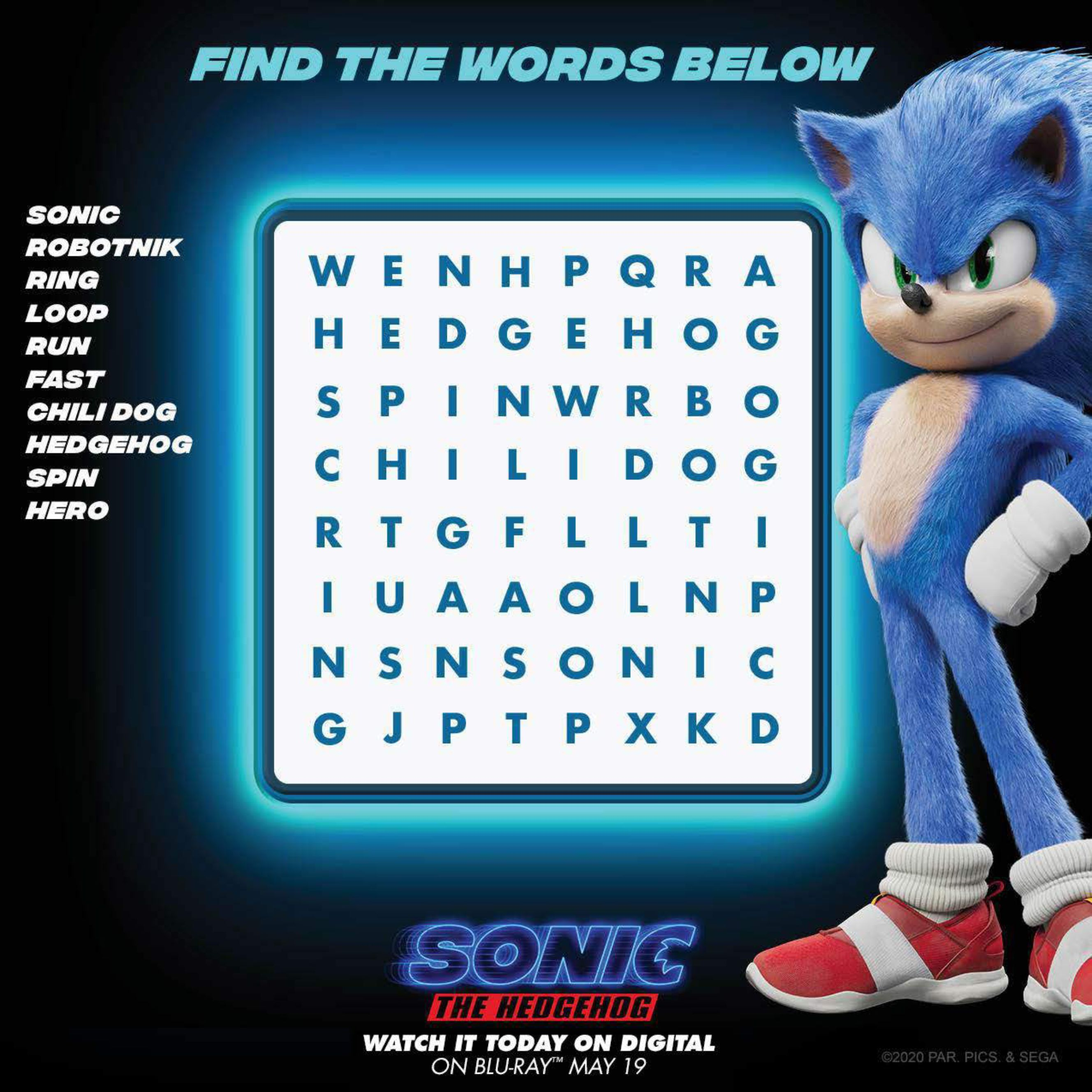 Sonic The Hedgehog Printable Activity Sheets Hedgehog Movie Sonic The Hedgehog Sonic