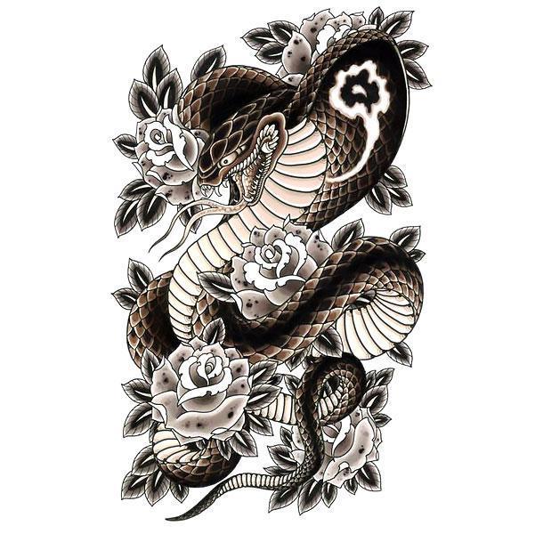 Beautiful Japanese Snake Tattoo Design In 2020 Snake Tattoo Design Japanese Tattoo Japanese Snake Tattoo