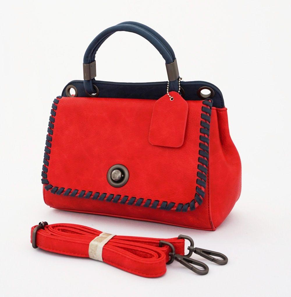 Brenda Office Korean Bag, cantik fashionable. Tebal, elegan. Bisa tenteng dan tali panjang. Warna merah. Uk 28x12x23