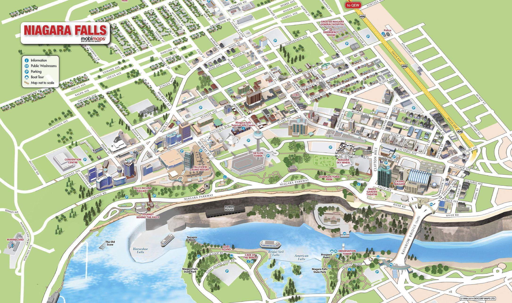 3D Mobimaps Map Guides Niagara Falls Maps Pinterest