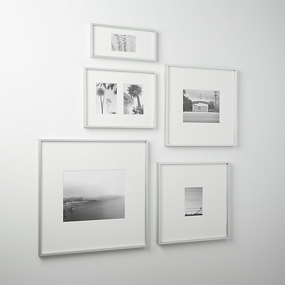gallery brushed silver picture frames | CB2 | Mary Decorating Ideas ...