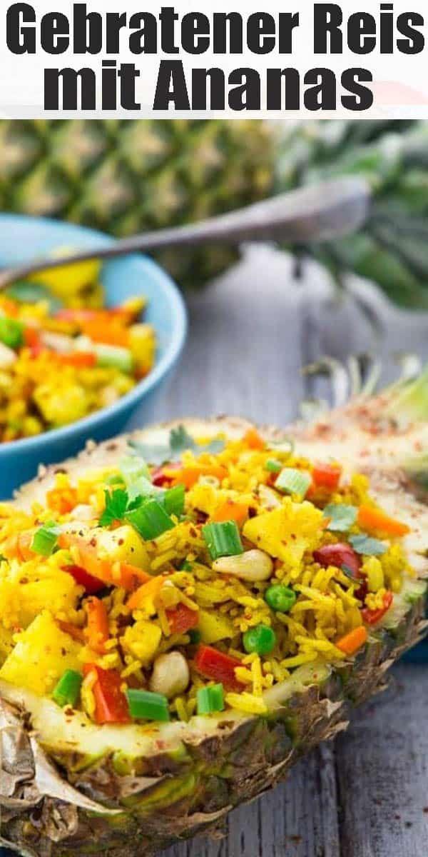Gebratener Reis mit Ananas #thaifoodrecipes