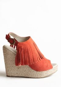 Apache Suede Fringe Wedges By Chelsea Crew