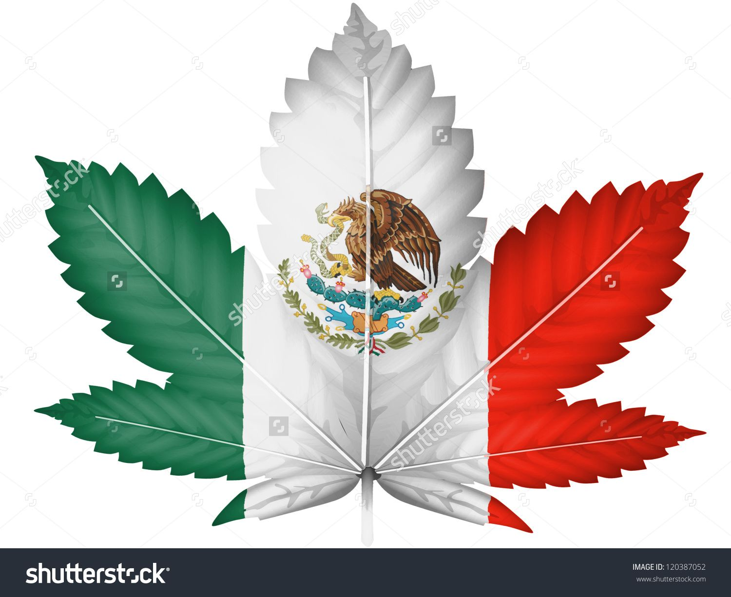 Stock photo the mexican flag painted on cannabis or marijuana leaf mexican senator roberto gil zuarth is leading a strong movement to legalize marijuana in mexico last week he introduced a bill in the mexican senate that biocorpaavc