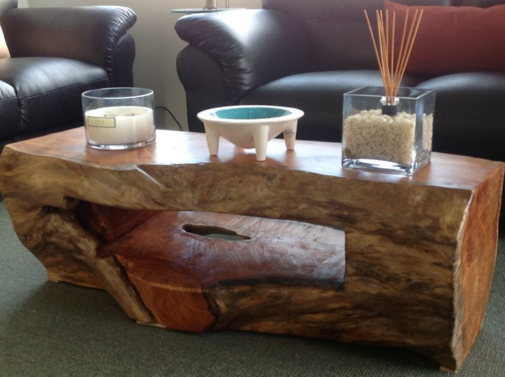 A Simple Carved Log Table