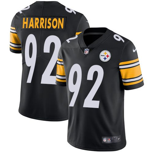 Nike Steelers  92 James Harrison Black Team Color Men s Stitched NFL Vapor  Untouchable Limited Jersey 9615134d661