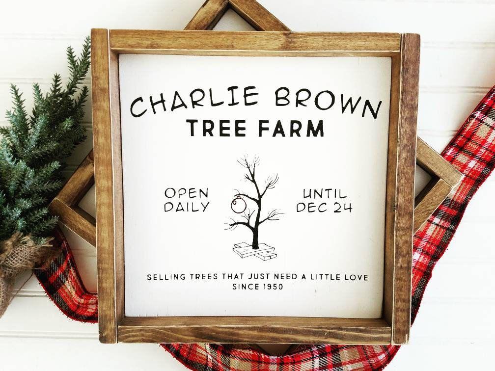 A Charlie Brown Christmas Charlie Brown Tree Farm Etsy Christmas Signs Wood Charlie Brown Christmas Decorations Charlie Brown Tree