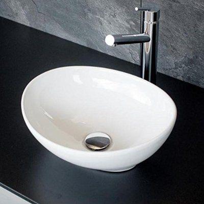 Kleines design g ste wc keramik aufsatz waschbecken for Kleines aufsatzwaschbecken