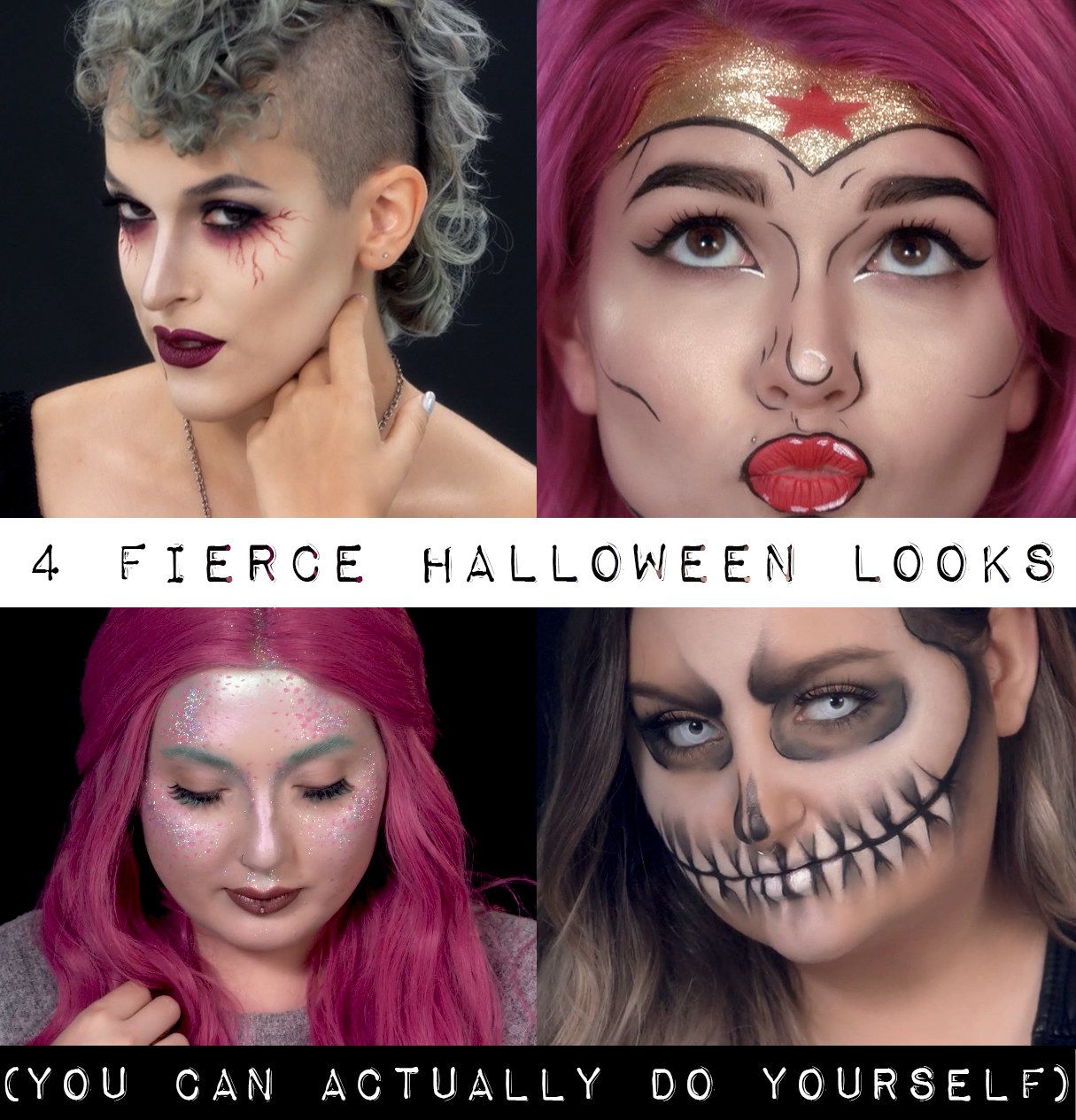 4 Halloween Looks You Can Actually Do Yourself
