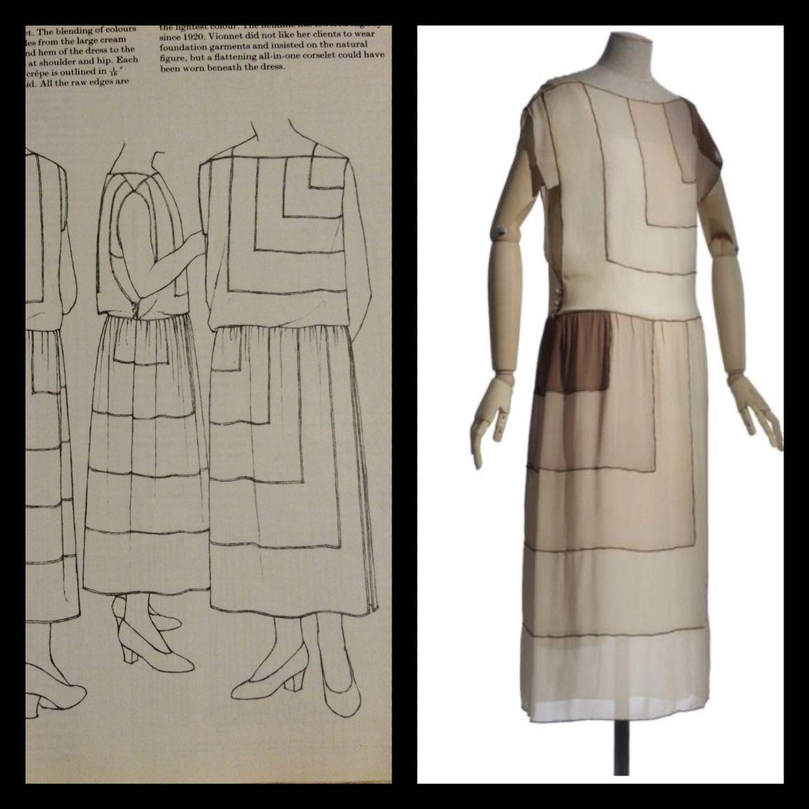 Summer Dress Vionnet 1922 Vionnet Patterns Of Fashion Art