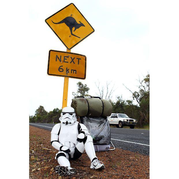 Stormtrooper plans to walk across Australia to raise money