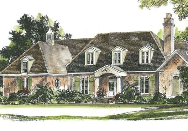 Iberville John Tee Architect French Country House Plans Southern House Plans Southern Living House Plans