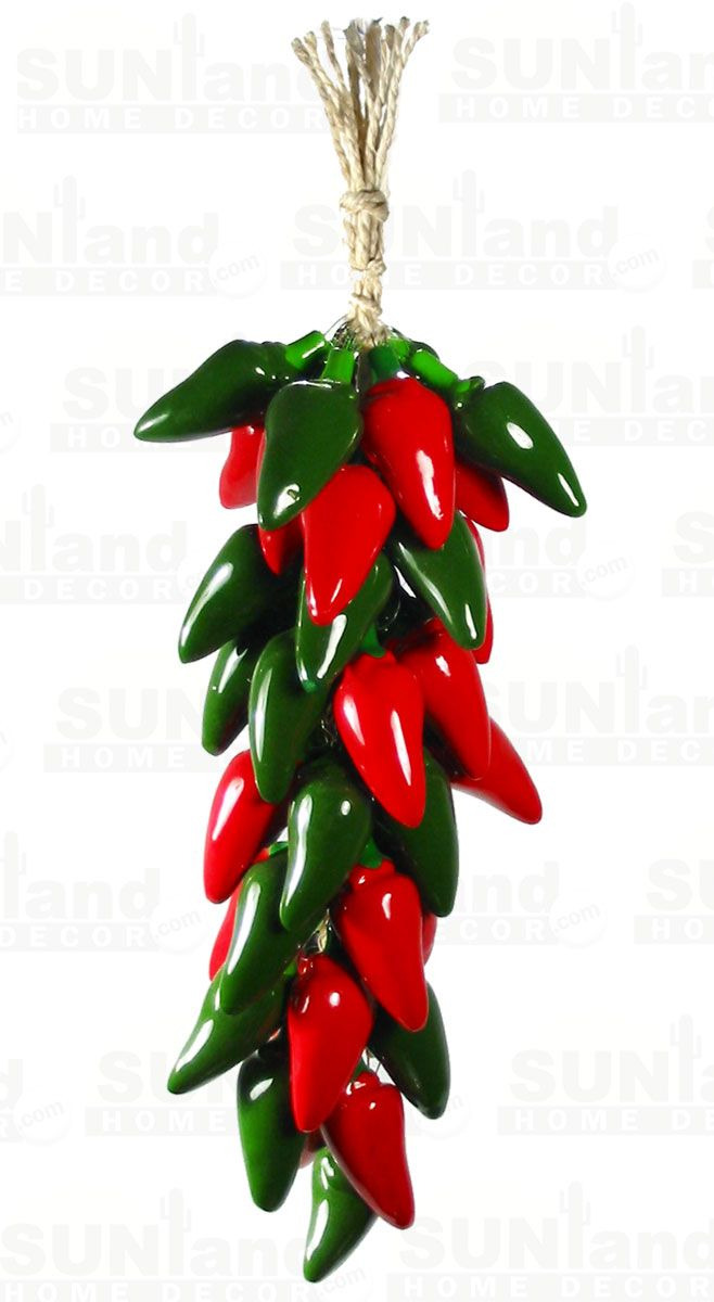 Sunland Home Decor Sunlandhomedecorcom Ceramic Red And Green Jalapeno Chili Ristra