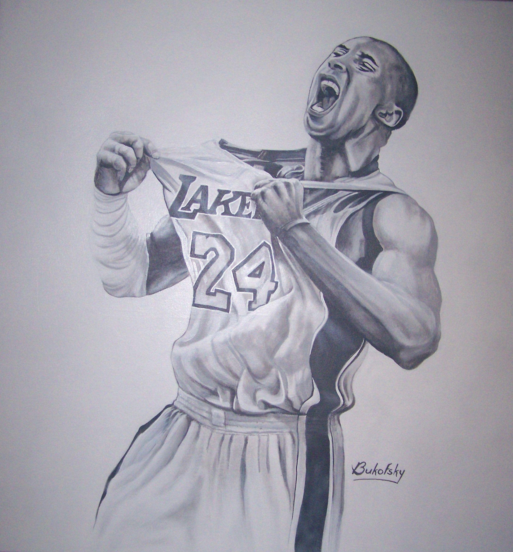 Kobe Bryant Victory Acrylic On Canvas By Mark Bukofsky 30x40