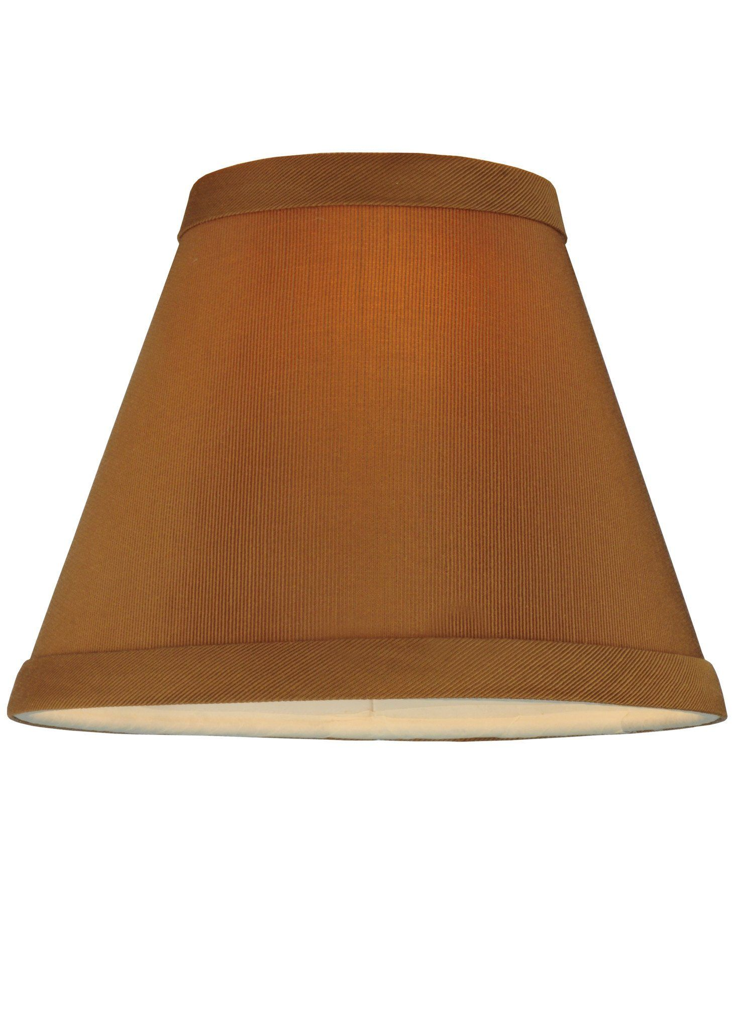 6 Inch W X 4.75 Inch H Faille Taupe Shade