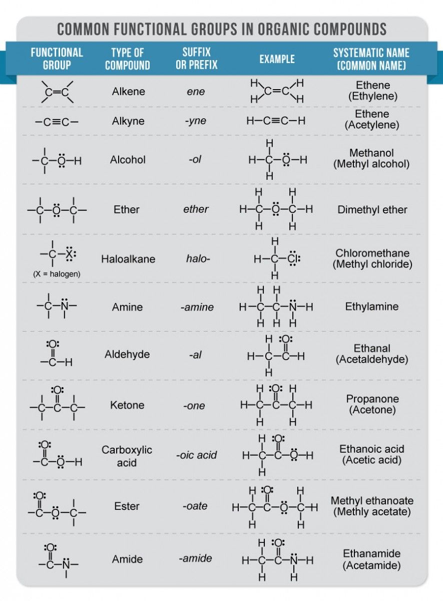 functional groups organic chemistry google search nursing