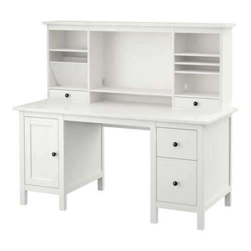 Hemnes Desk With Add On Unit White Stain 61x53 7 8 Ikea Ikea Hemnes Desk Ikea Hemnes Hemnes