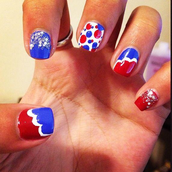 Girly Nail Art: My 4th Of July MissJenFabulous Inspired Nail Art. Cute