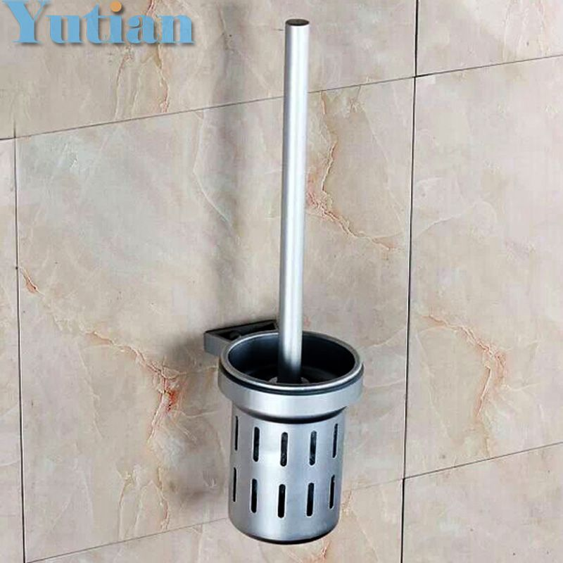 Free Shipping Toilet Brush Holder Solid Construction Base In Oxidation Finish Aluminium Cup