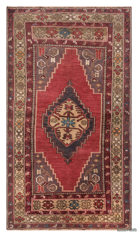 Turkish Vintage Area Rug 3 1 X 5 3 93 Cm X 161 Cm In 2020 Area Rugs Rugs Vintage Rugs