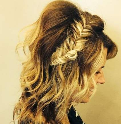28+ Ideas Hair Half Up Half Down With Bangs Faces For 2019 ...