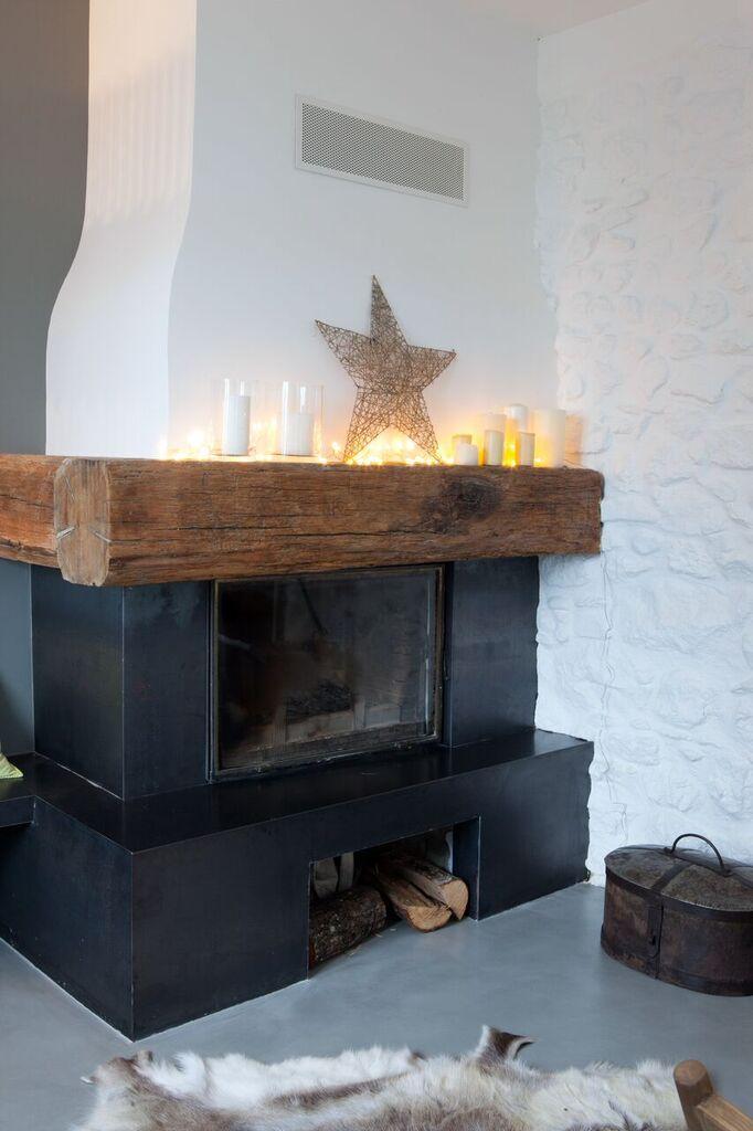 pour moderniser une vieille chemin e en pierre rien de. Black Bedroom Furniture Sets. Home Design Ideas