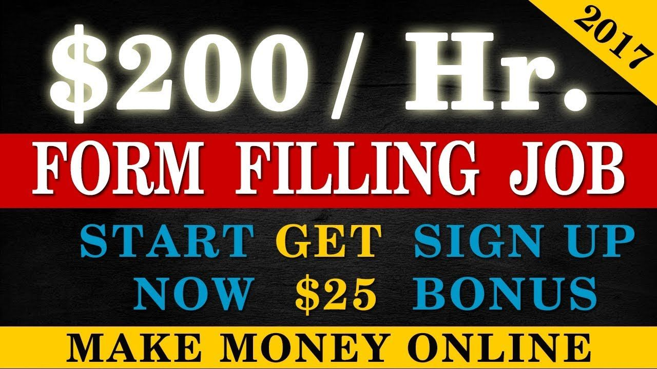 Online Form Filling Jobs - Weekly Payouts - Earn $200 Daily by ... on seasonal jobs, office jobs, typist jobs, part-time jobs, remote jobs, educational jobs, nursing home jobs, networking jobs,