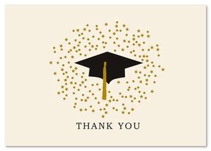 Graduation Hat Stars Stationery Thank You Cards Graduation Thank You Cards Cards Thank You Card Template