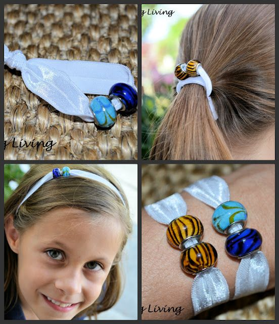 Cool Diy Hair: Make Your Own Elastic Hair Ties And Headbands With Beads