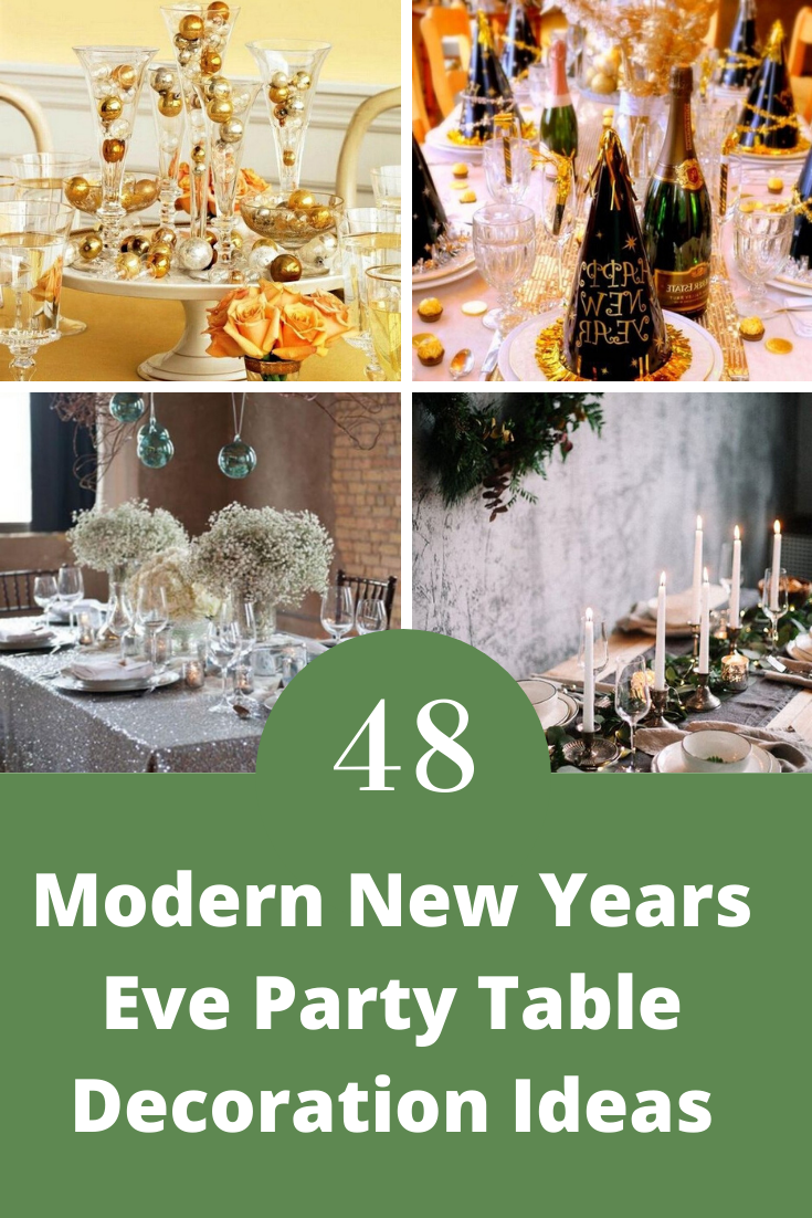 48+ Modern New Years Eve Party Table Decoration Ideas