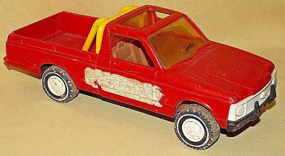 Chevy Luv Truck Gay Toys Plastic Orange Yellow Roll Bar No 730 Usa