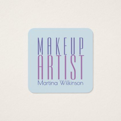 Makeup artist giant text letters cover square business ...
