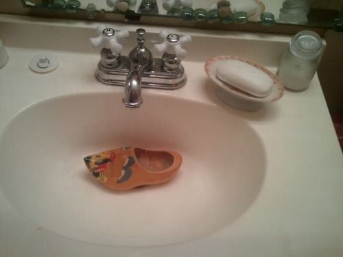 wait for it ......... clogged sink.