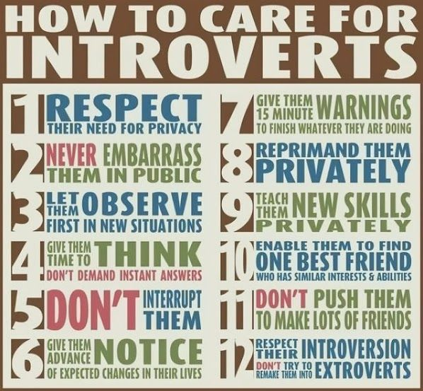 Not really an infographic but probably useful for me :-)  #introvert