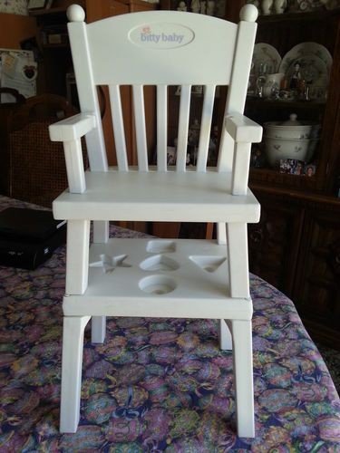 american girl high chair stool for dressing table retired bitty baby and activity euc