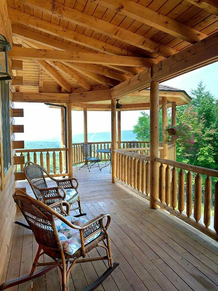 Pin By Heather Mauricio On Porches Decks Log Home Floor Plans