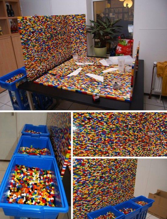 Lego Wall Divider In 2019 Lego Lego Einrichten Und