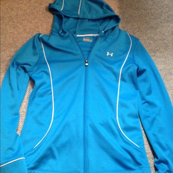 Under armour jacket Light weight, perfect for running or lounging around! No stains or holes! Under Armour Tops