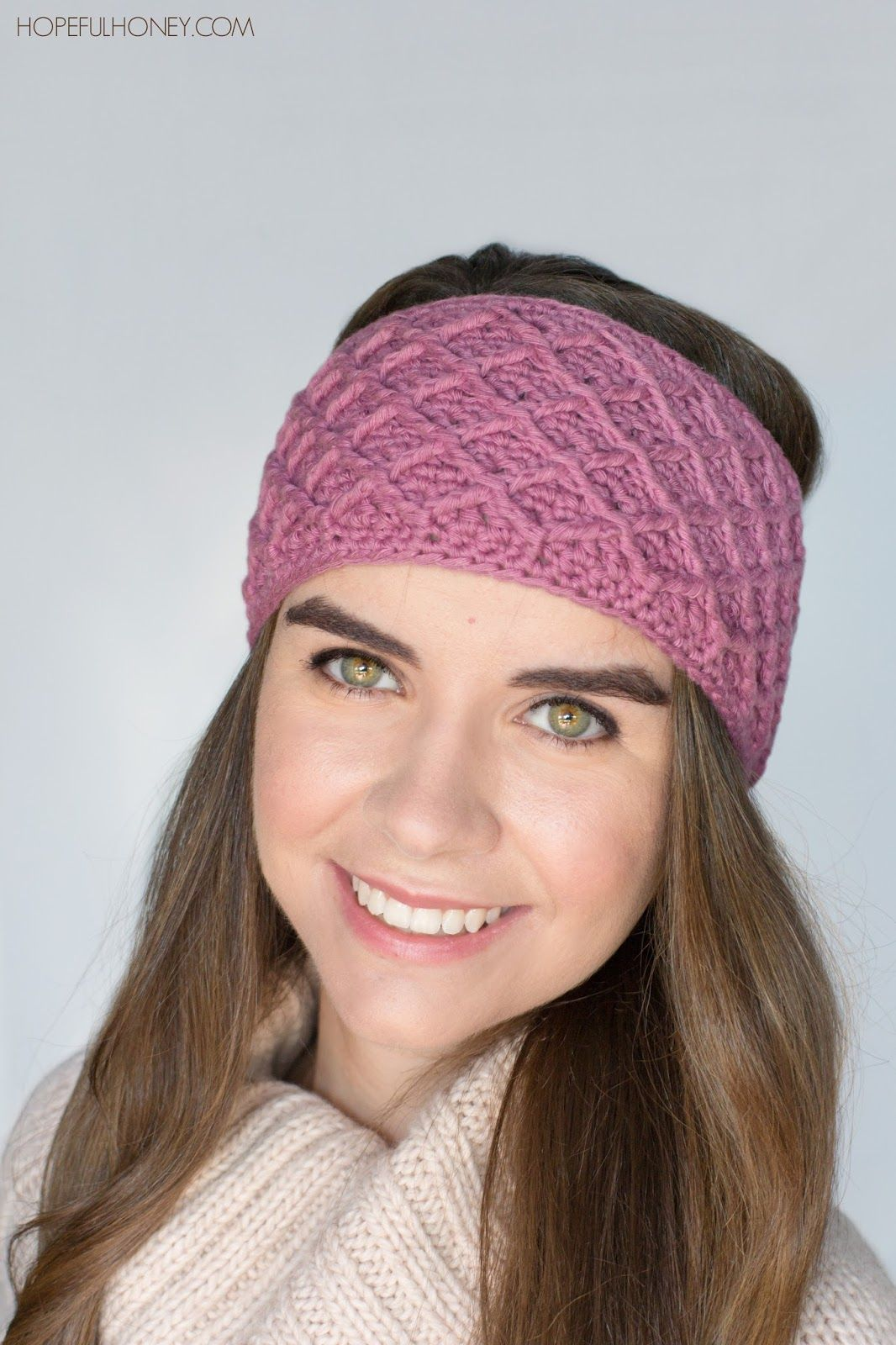 Diamond Trellis Headband - Free Crochet Pattern   Free crochet ...