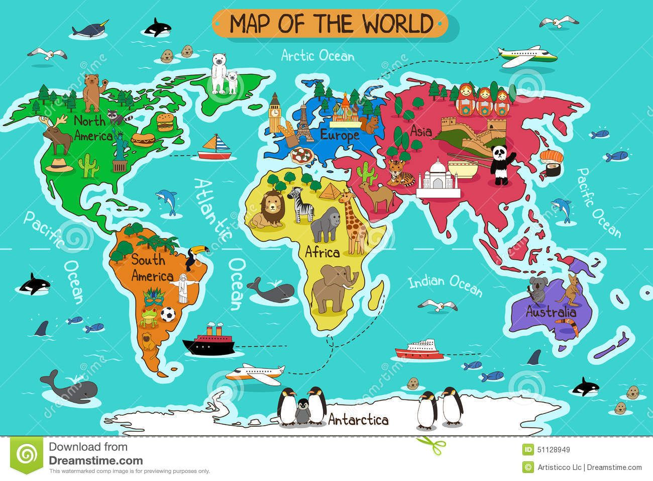 Map of the world stock vector image 51128949 education pinterest map of the world stock vector image 51128949 gumiabroncs Images