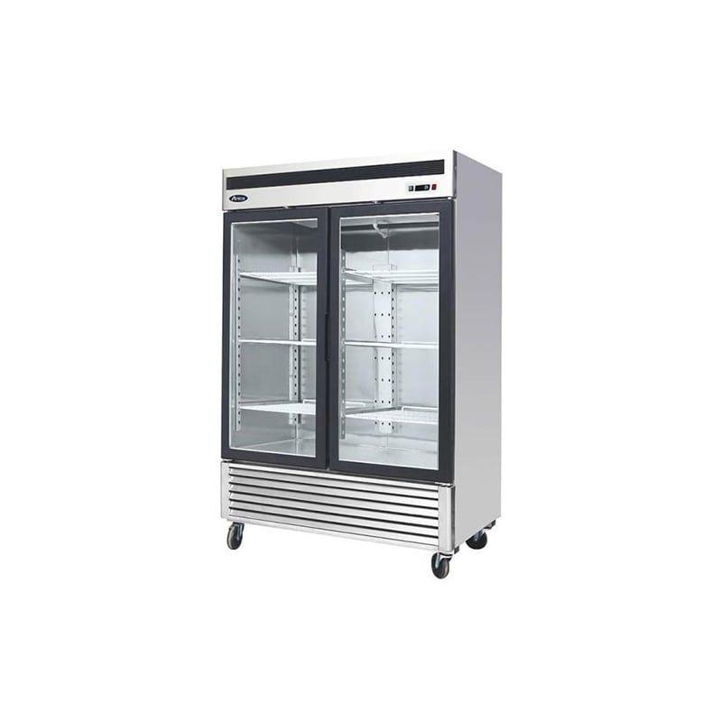 Atosa Mcf8703 Glass Door Glass Refrigerator Stainless Steel Refrigerator