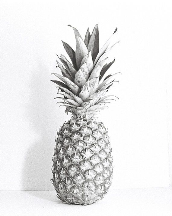 Pineapple, Black and White Photography, Fruit | p i n e a ...