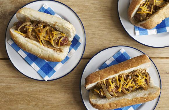 Crock Pot Smoked #Sausages and Onions #Recipe - great for #game day #parties, too!